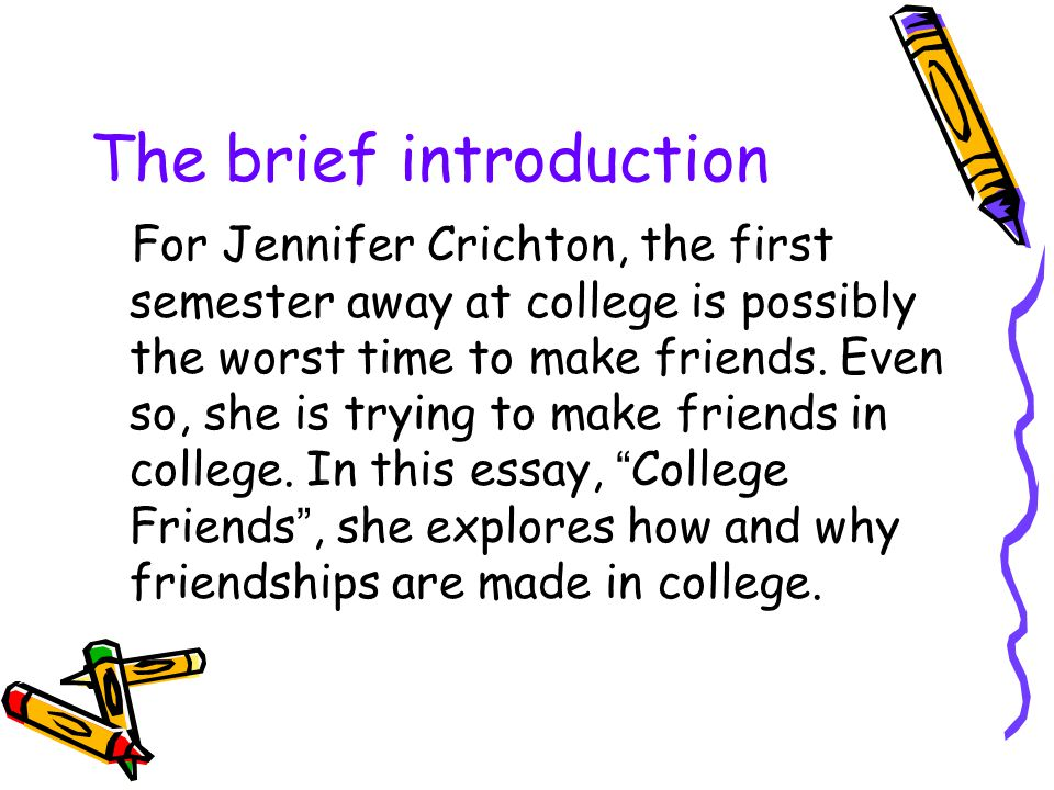 introduction of friend