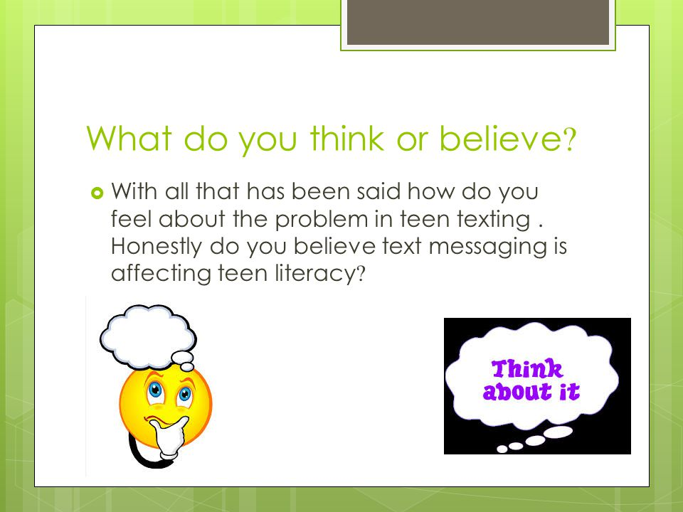 how text messaging is affecting teen literacy Longstreet brittany longstreet mrs forsythe english 1113-11 15 february 2013 how does text messaging affect teen literacy text messaging has become an integral part of our lives it has developed very rapidly throughout the world.