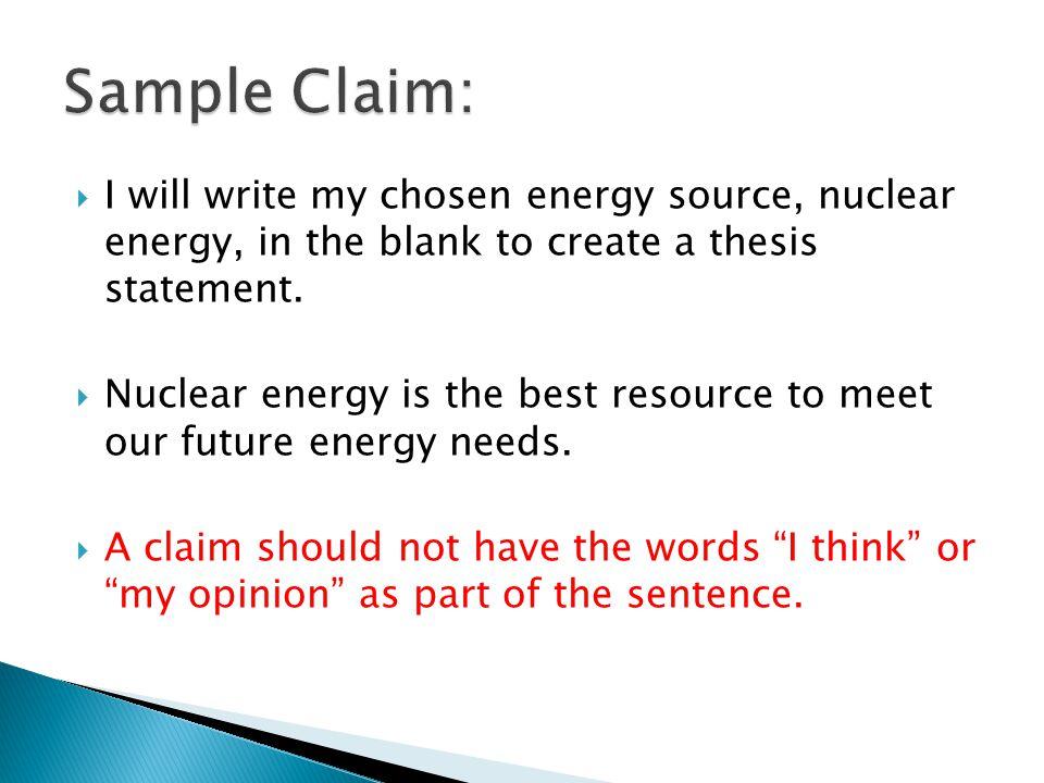 How do you make a thesis sentence