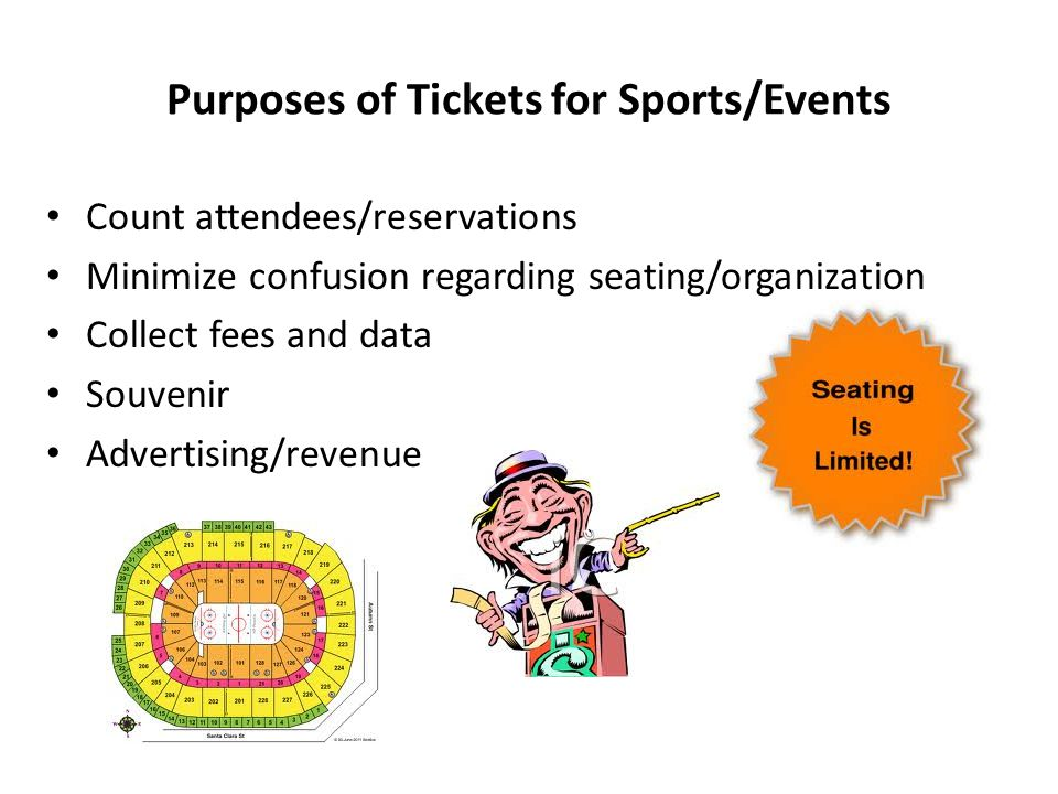 Purposes of Tickets for Sports/Events