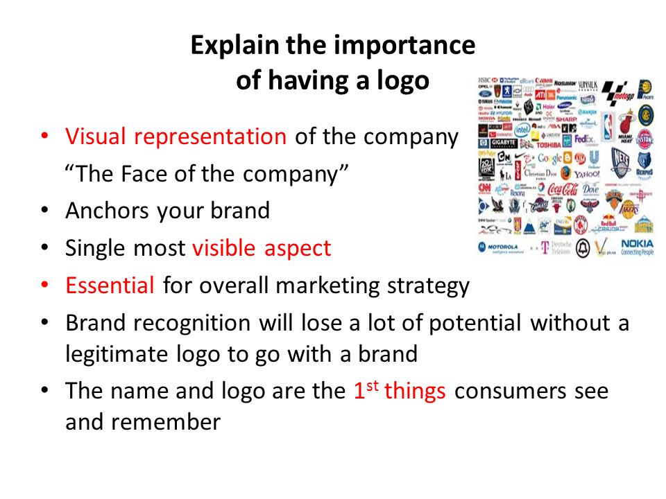 Explain the importance of having a logo