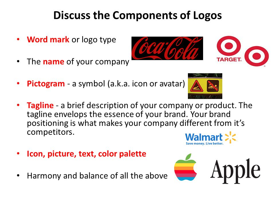 Discuss the Components of Logos