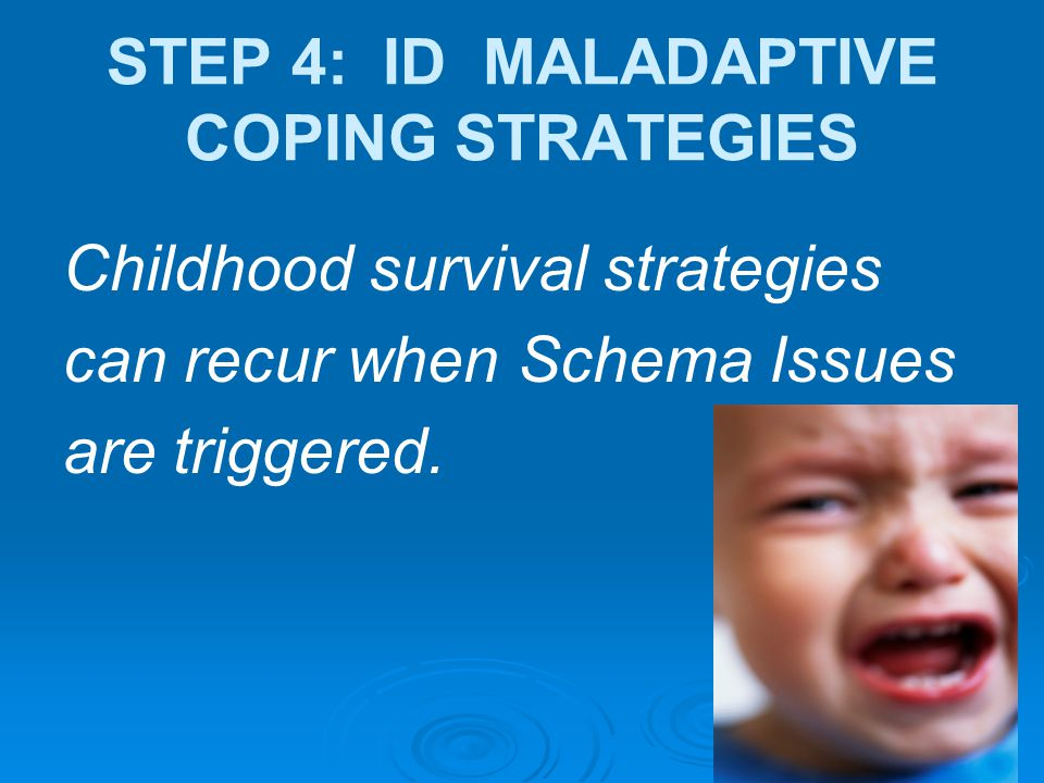maladaptive coping Coping techniques can be adaptive, which increase our functioning, or maladaptive, which relieve symptoms temporarily but don't address the root cause of the stress.