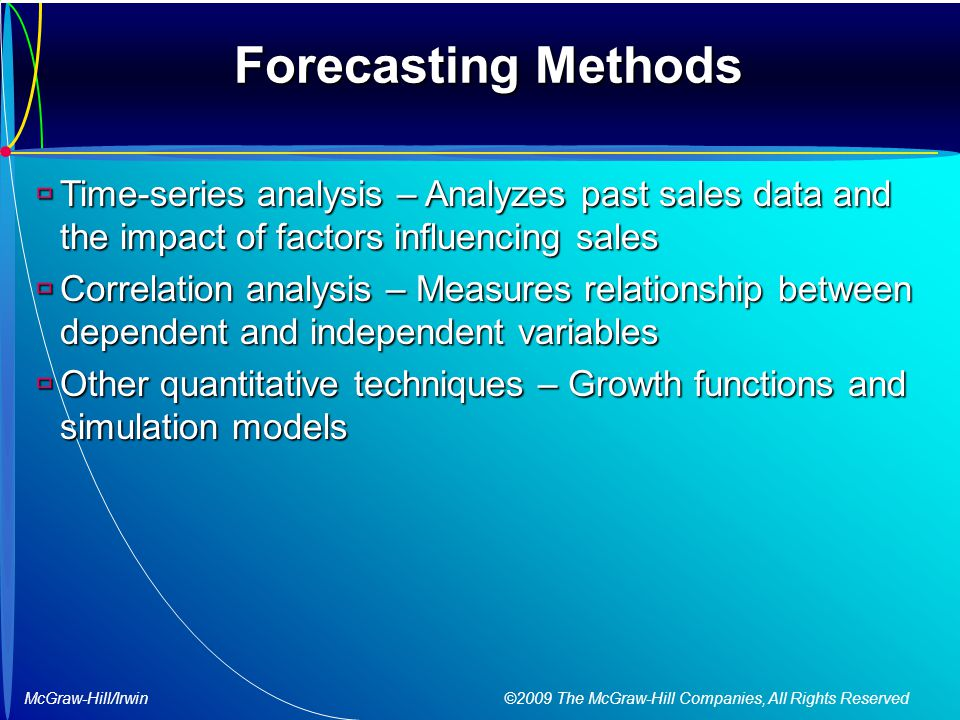 forecasting models and types of data There are four factors to consider when selecting a model: amount and type of data principles of forecasting many types of forecasting models that differ.
