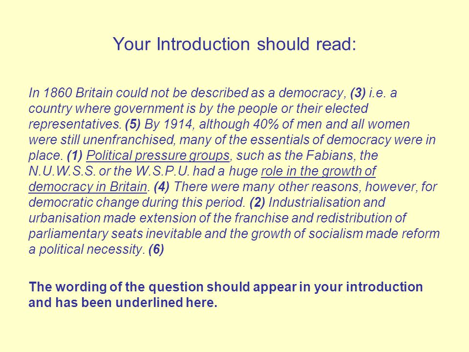 the democracy in britain in 1914 These notes examine the major reforms introduced into the uk during the period 1870 to 1914 introduction the strength of the british system of government has been its ability to stifle any danger of revolution through reformduring the 19th century britain's government was the model most liberals throughout europe sought to copy.