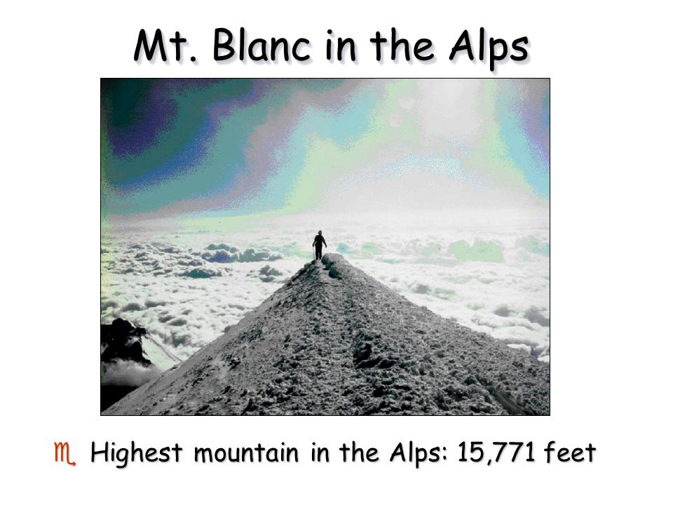 the alps youngest and highest mountain Some ruggedness (drs) comparisons for mountain ranges a natural question to ask is is mountain range x more rugged than mountain range y this is a bit of a slippery question, but ors gives one way of answering such questions, by quantifying a certain measure of the ruggedness of a region.