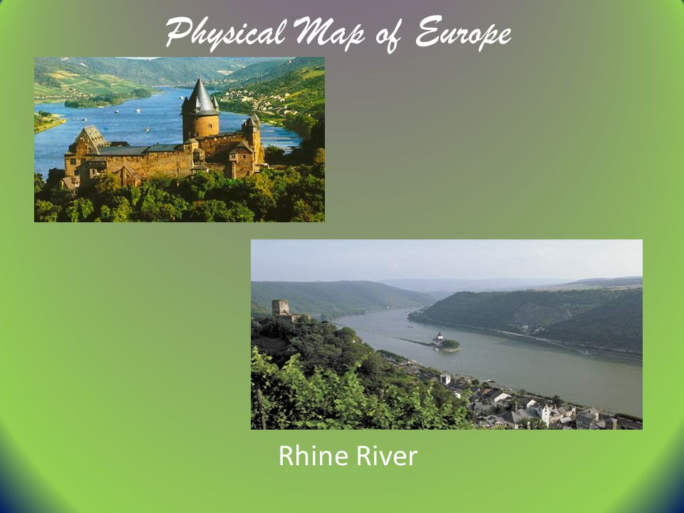 Physical Map of Europe Rhine River