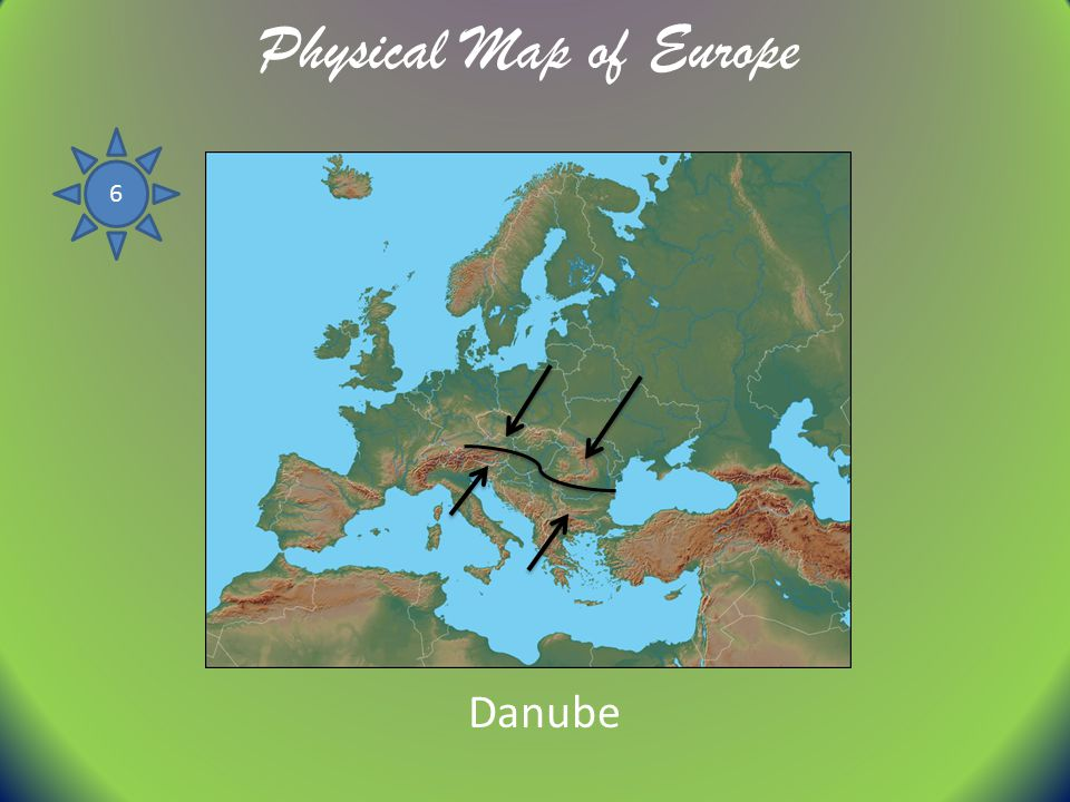 Physical Map of Europe 6 Danube