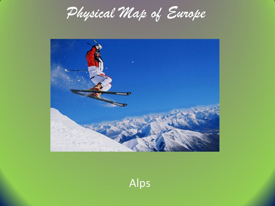 Physical Map of Europe Alps