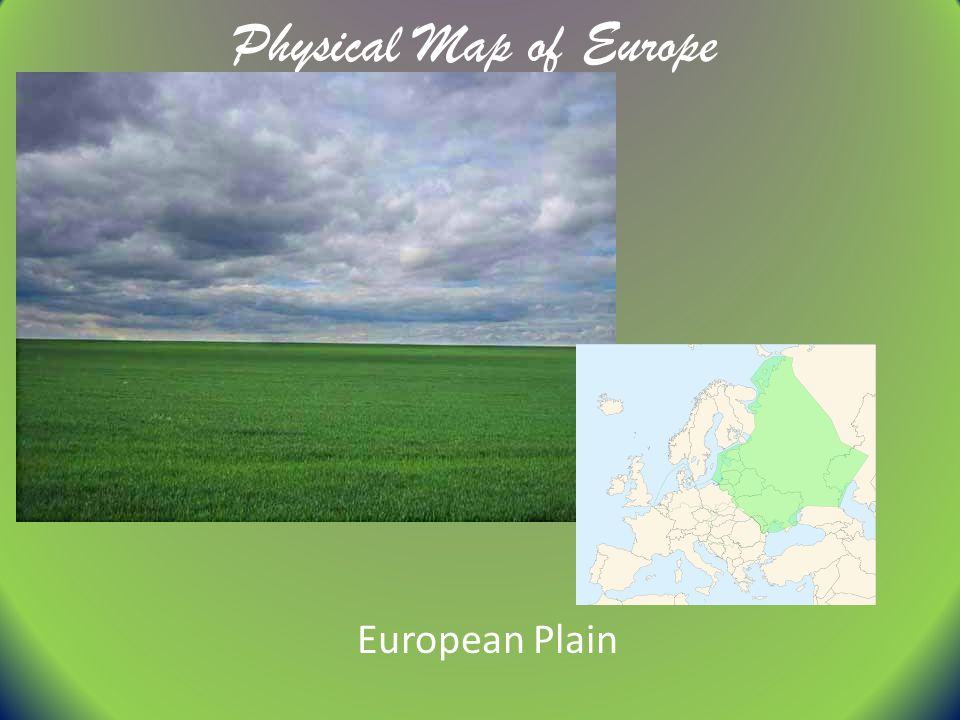 Physical Map of Europe European Plain