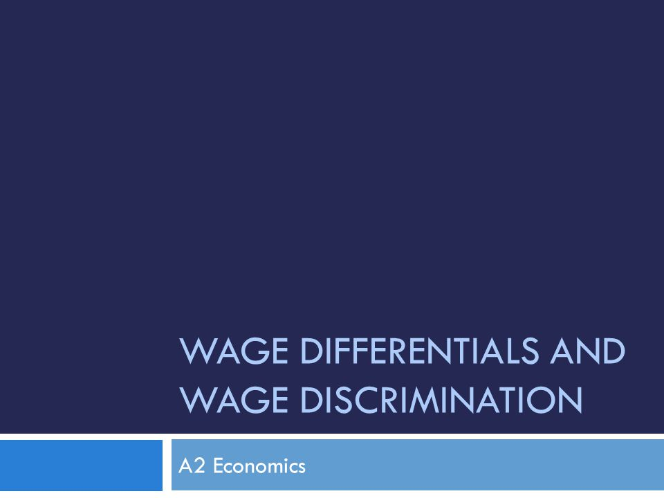 wage differentials and wage discrimination Acta sociologica 2005 wage differentials and gender discrimination changes in sweden 1981–98 mats johansson institute for futures studies, sweden.