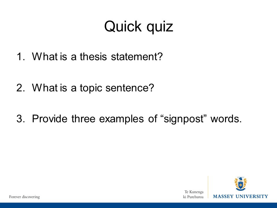 evaluating a thesis statement quiz