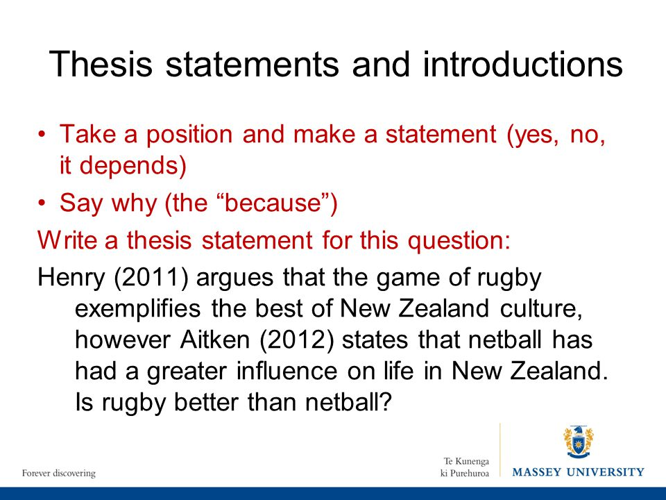 refining a thesis statement At some point, you can turn a purpose statement into a thesis statement as you  think and write about your topic, you can restrict, clarify, and refine your.