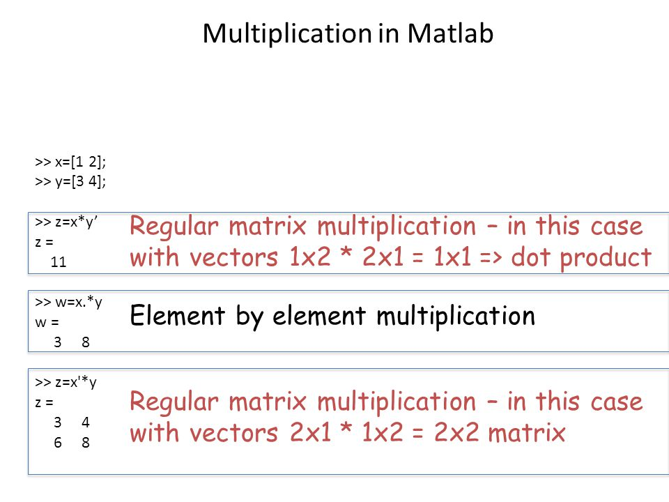 how to create a 2x2 matrix in matlab