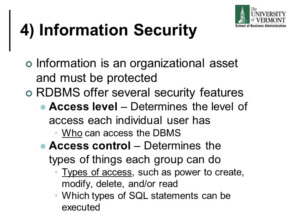 4) Information Security