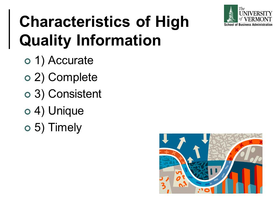 Characteristics of High Quality Information