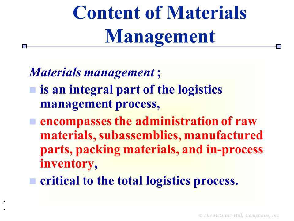 advantages of material management pdf