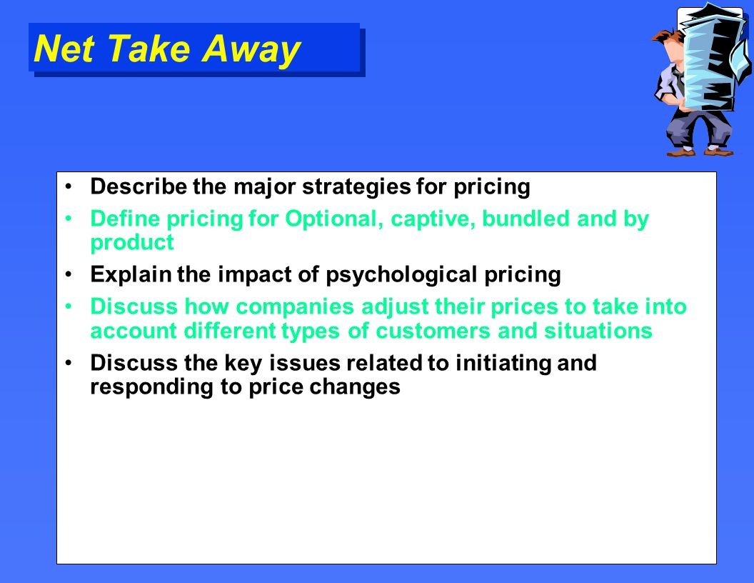 discuss price adjustment strategies wit Marketing strategies are the result of a meticulous market analysis a market analysis forces the entrepreneur to become familiar with all aspects of the market so that the target market can be.