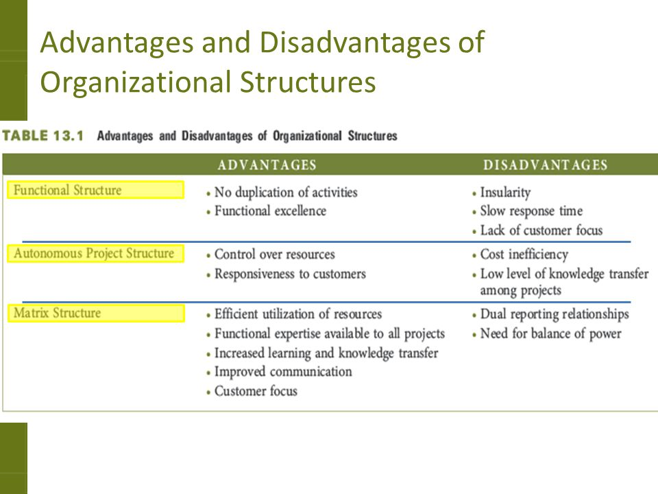 Advantages & Disadvantages of Matrix Organizational Structures in Business Organizations