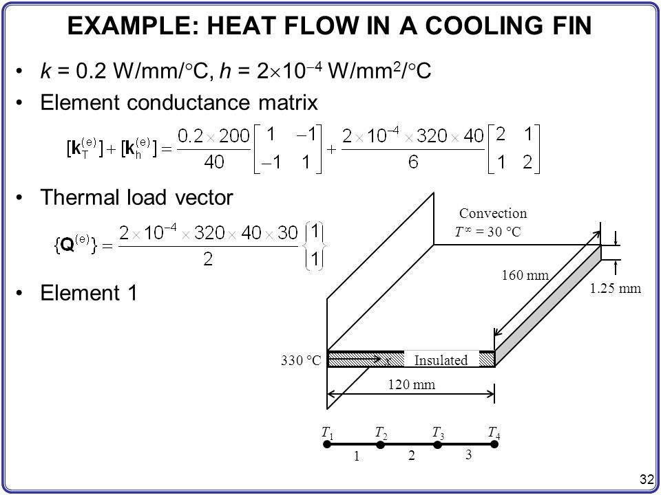 EXAMPLE: HEAT FLOW IN A COOLING FIN