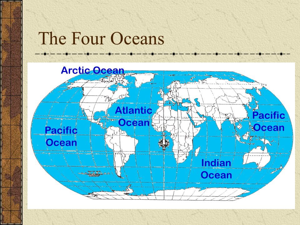 Basic geography review or world geography ppt video online download the four oceans arctic ocean atlantic ocean pacific ocean gumiabroncs Images