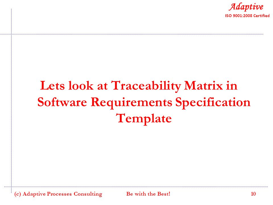 Requirements management ppt video online download for Srs software requirement specification template