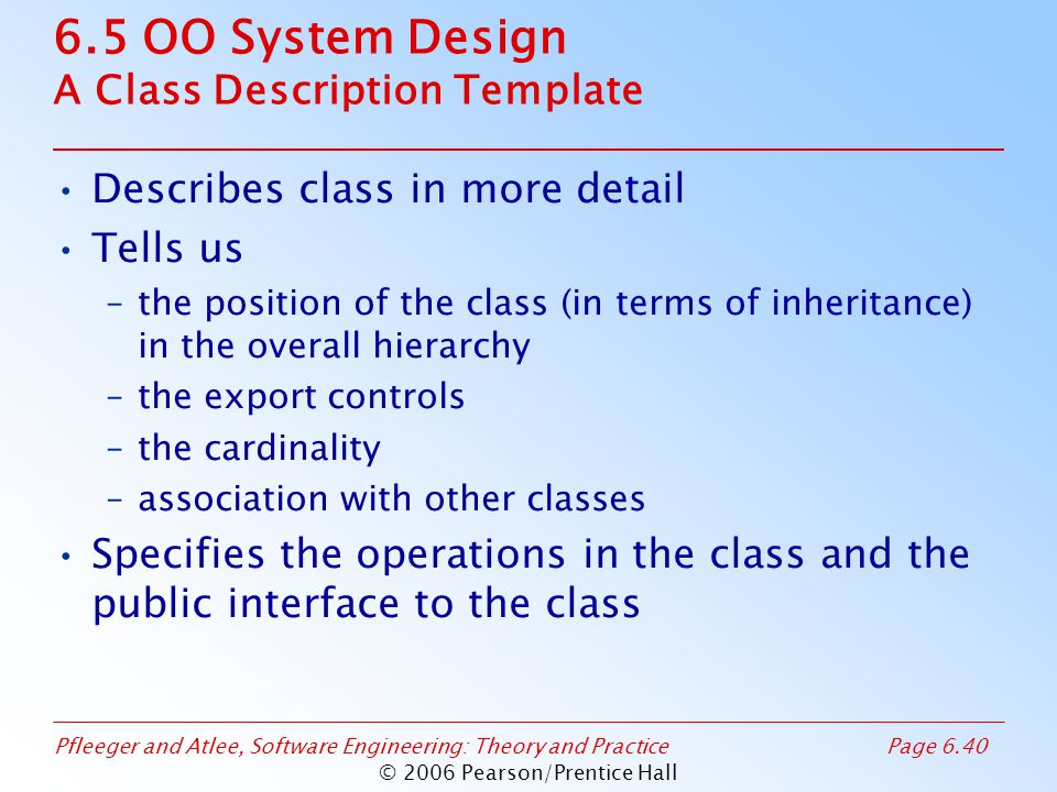Classroom Design Description ~ Copyright pearson prentice hall all rights reserved