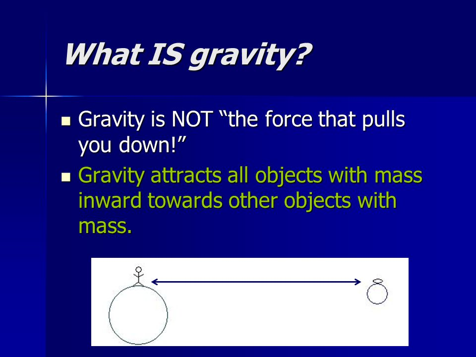 What IS gravity Gravity is NOT the force that pulls you down!