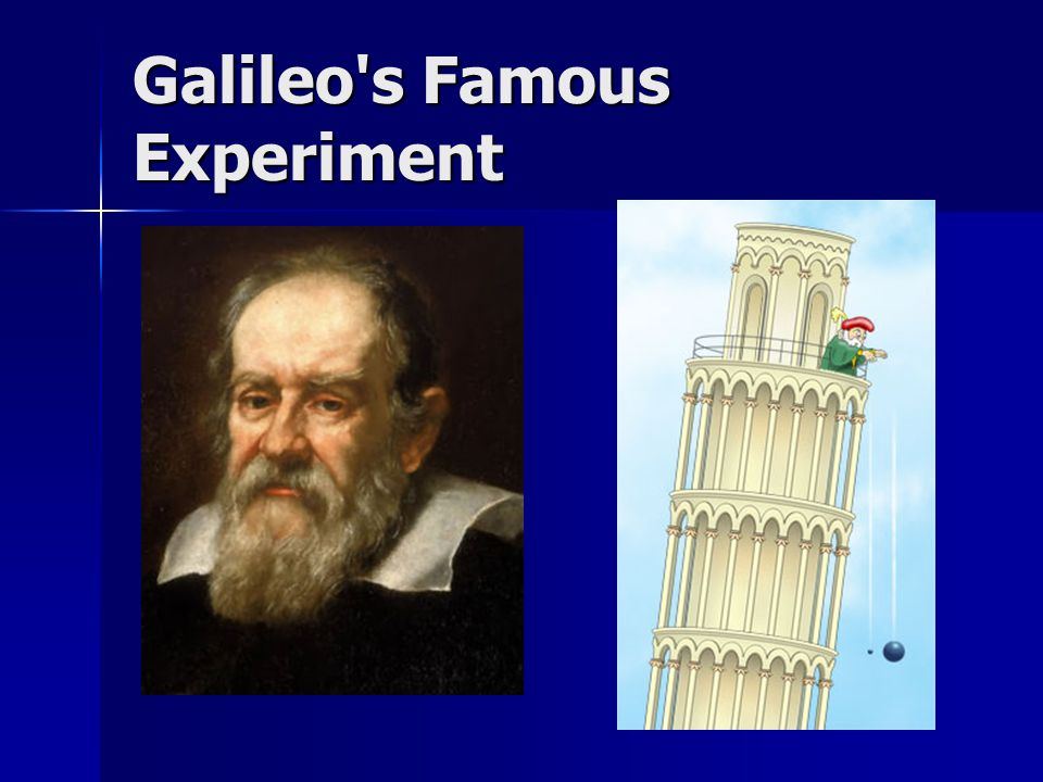 Galileo s Famous Experiment
