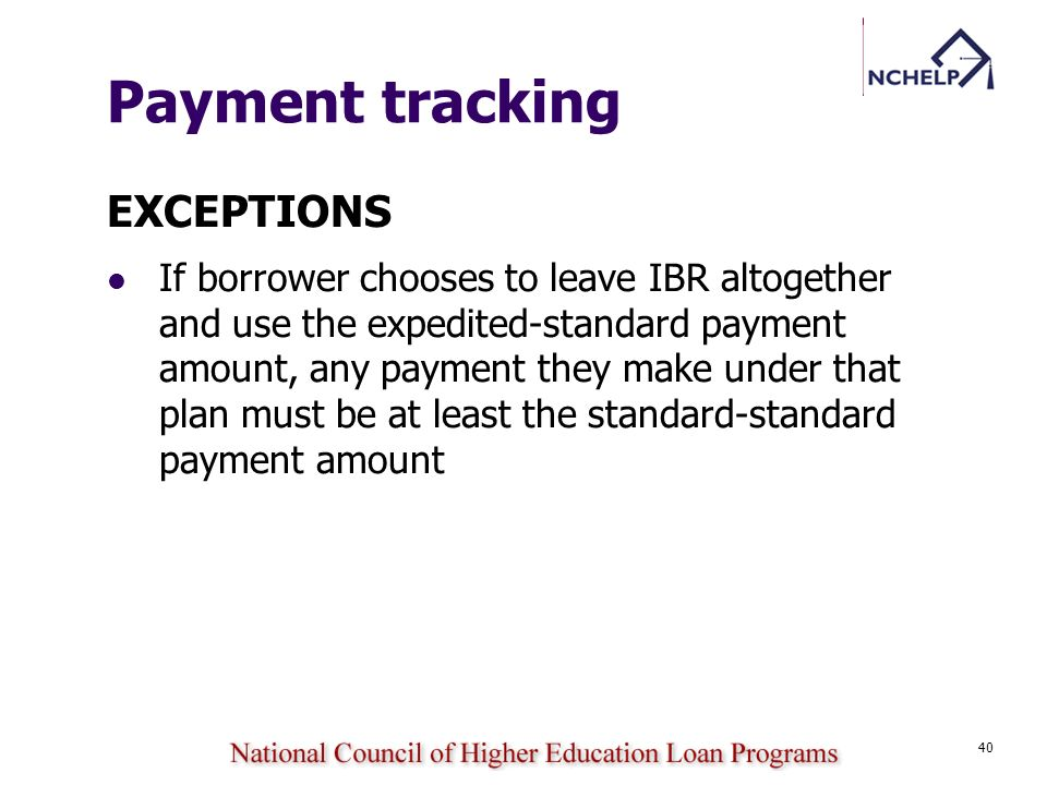 Payment tracking EXCEPTIONS