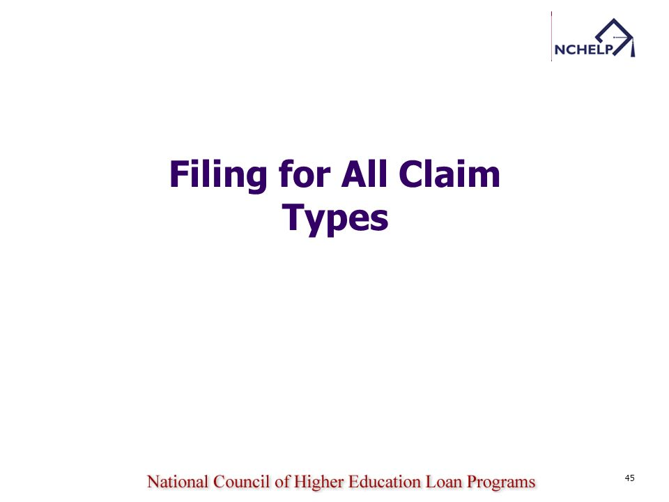 Filing for All Claim Types