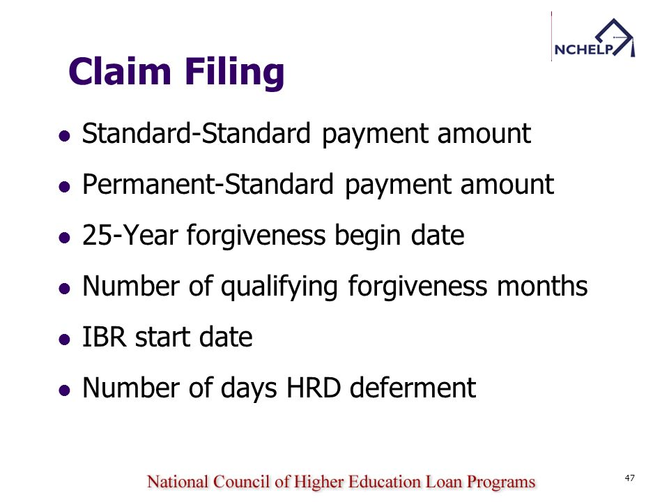Claim Filing Standard-Standard payment amount
