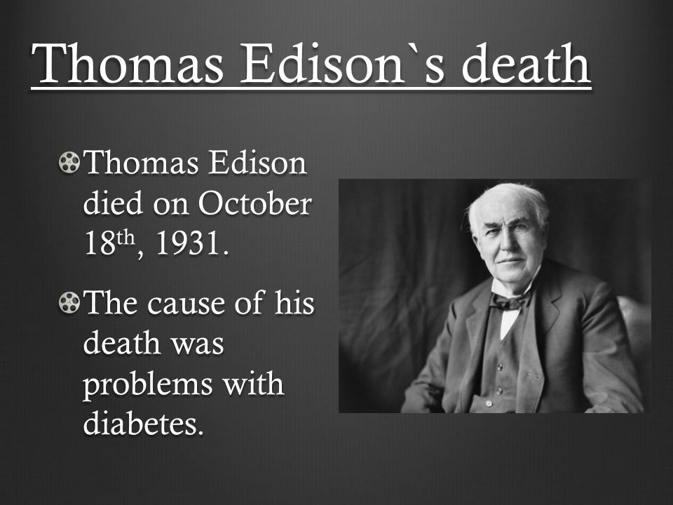 a biography of thomas alva edison the inventor of the electric light bulb Thomas alva edison biography thomas alva edison was the most prolific inventor in were hopes for an electric vehicle, and edison spent the first.