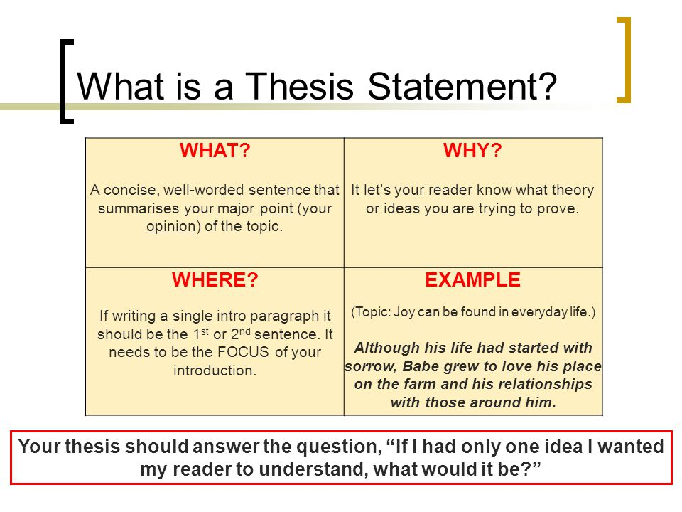 "what isa thesis What is a thesis statement in your academic writ ing, you are often expected to provide a ""thesis statement"" in the paper, presentation, online post or other composition assignment."