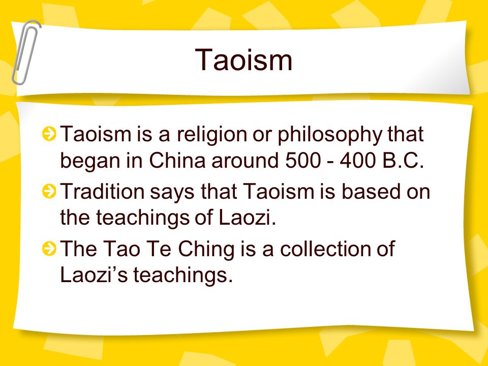 Taoism at a glance