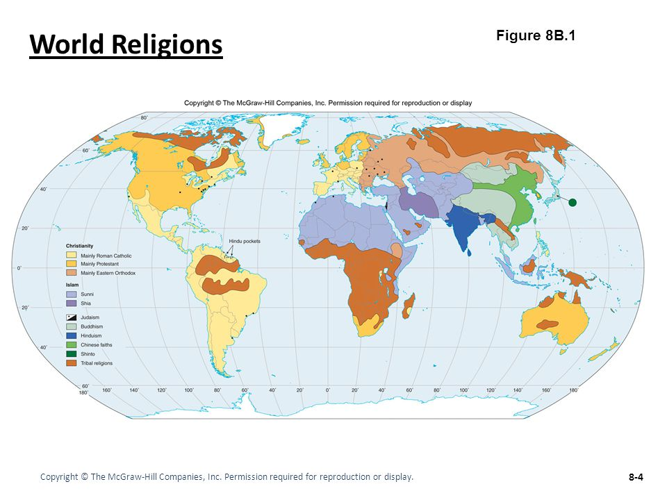 Chapter LECTURE OUTLINE The Geography Of RELIGION Ppt Video - World religion map worksheet