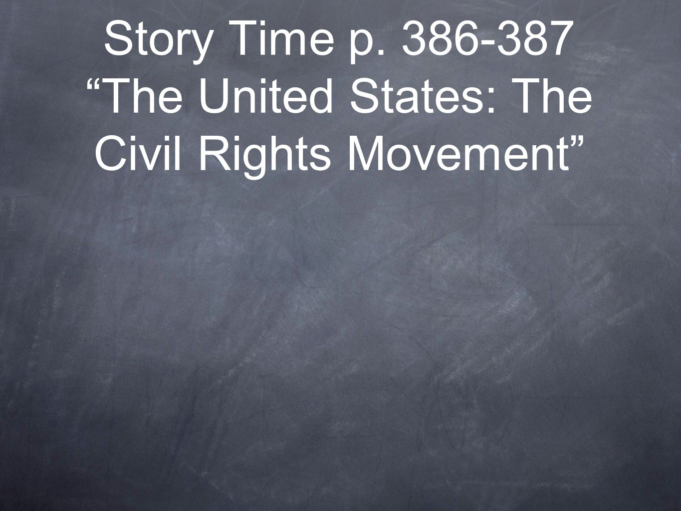 The united states civil rights movement