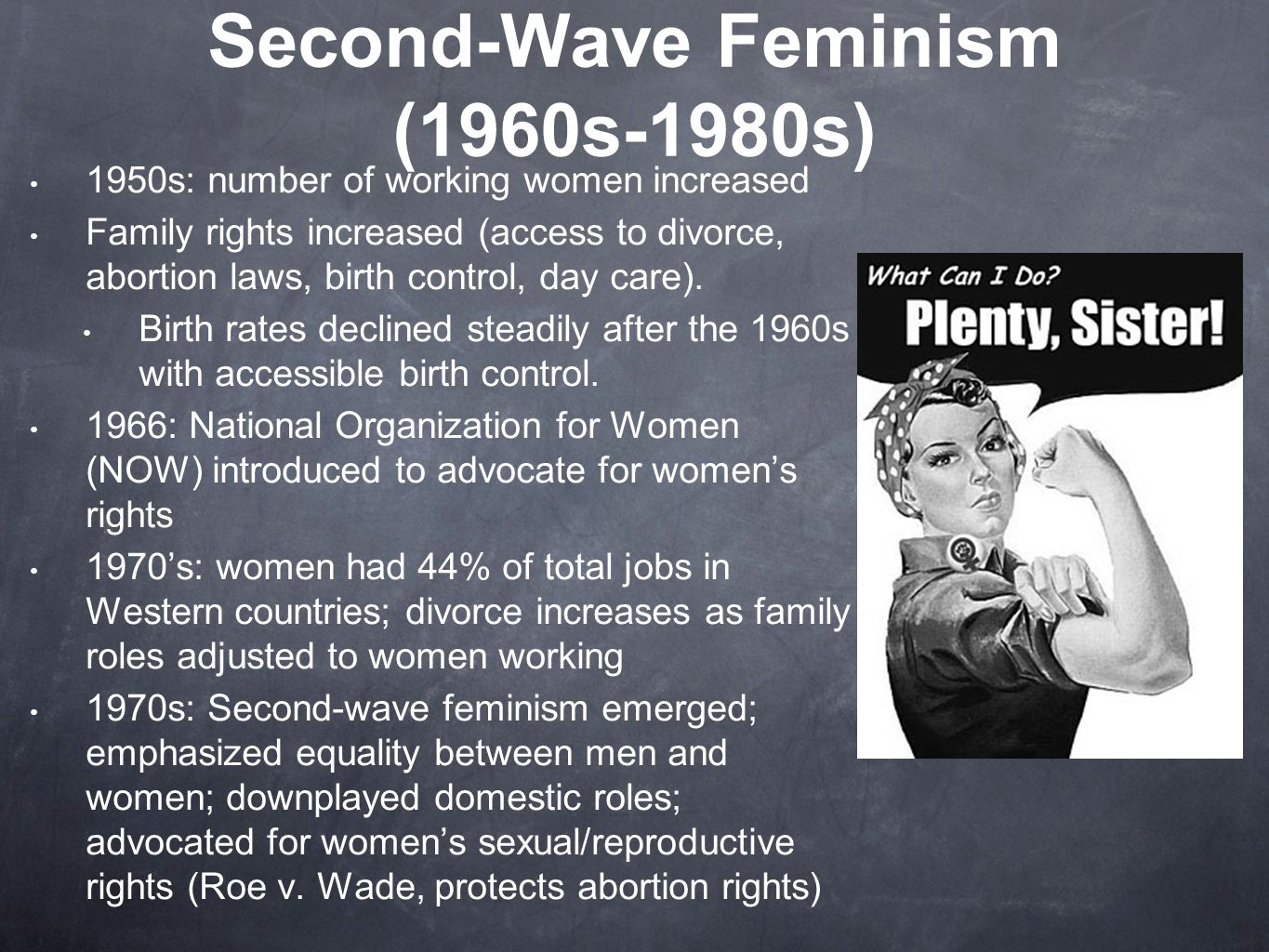 a paper on increased feminism of the 1960s What were the goals of the feminist movement learn more about the feminists of the 1960s and 1970s and what they wanted to achieve for women' s increased.