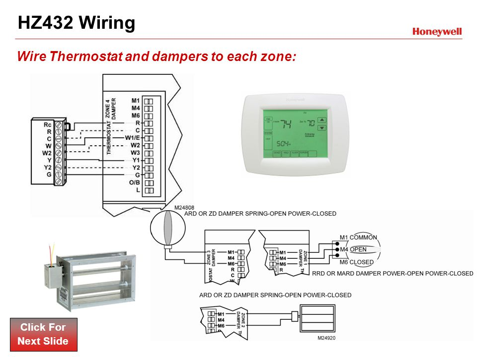 Honeywell Wall Thermostat Wiring Diagram : Honeywell hz wiring diagram images