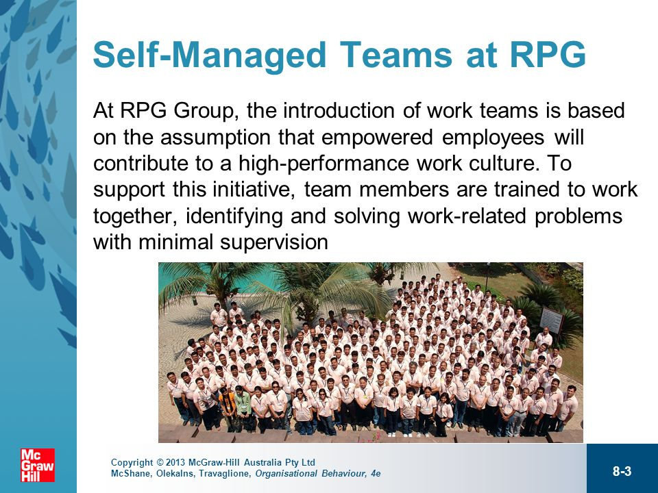 characteristics of a self managed work team Great teams don't just happenthose teams that fit together like puzzle pieces are the result of hard work and thoughtful leadership but what exactly are the things you need to look for when putting together a highly effective team.