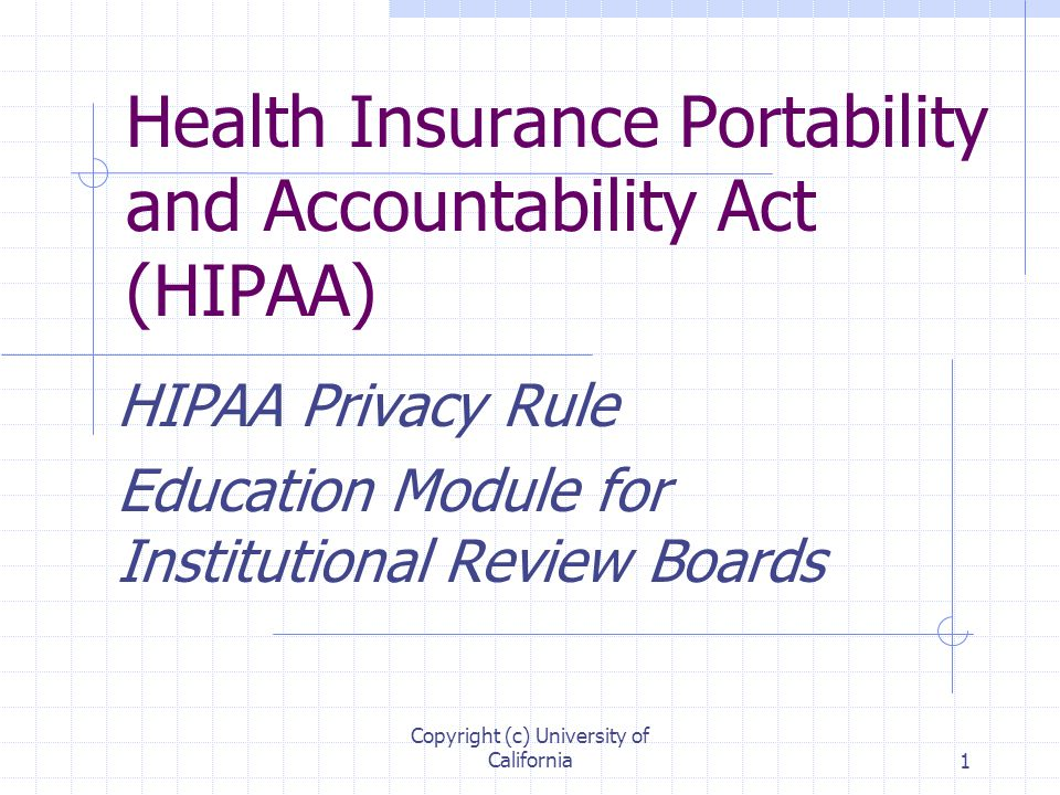 the health insurance portability and accountability Hipaa (health insurance portability and accountability act of 1996) is united states legislation that provides data privacy and security provisions for safeguarding medical information the law has emerged into greater prominence in recent years with the proliferation of health data breaches caused .