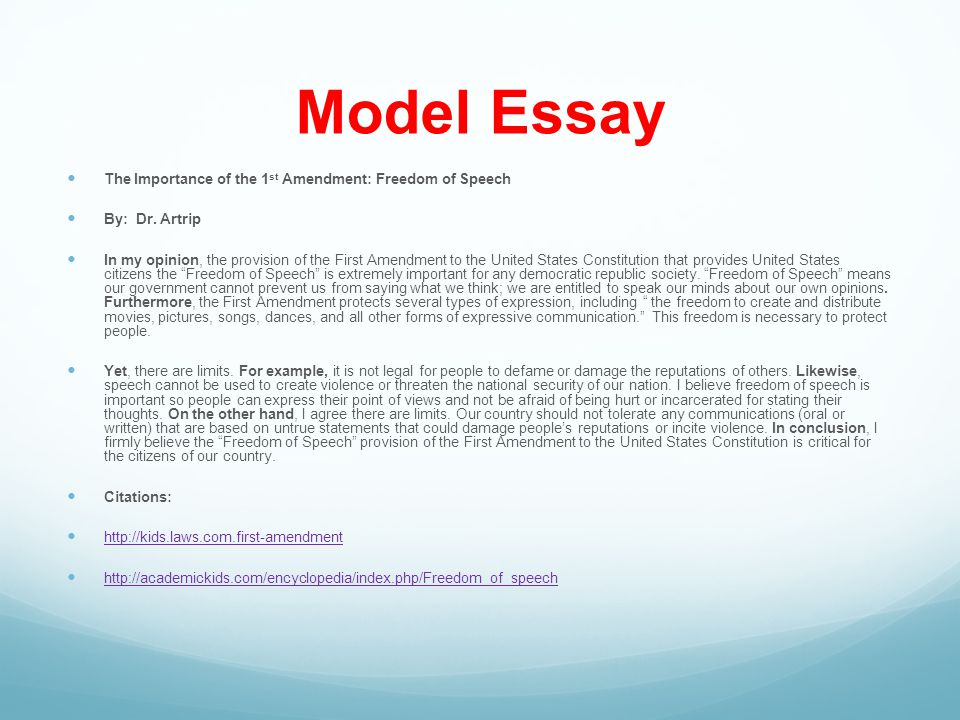 a speech model essay Hmm this essay is good for students like me :) but my english teacher wants me to add contains point before writing this speech essay.