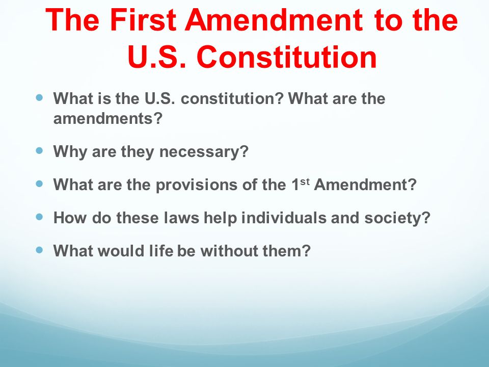 "an overview of the importance of the first amendment of the constitution Why is the first amendment of the us constitution so important update the first amendment was the ""most important"" as both the underpinning of felix."
