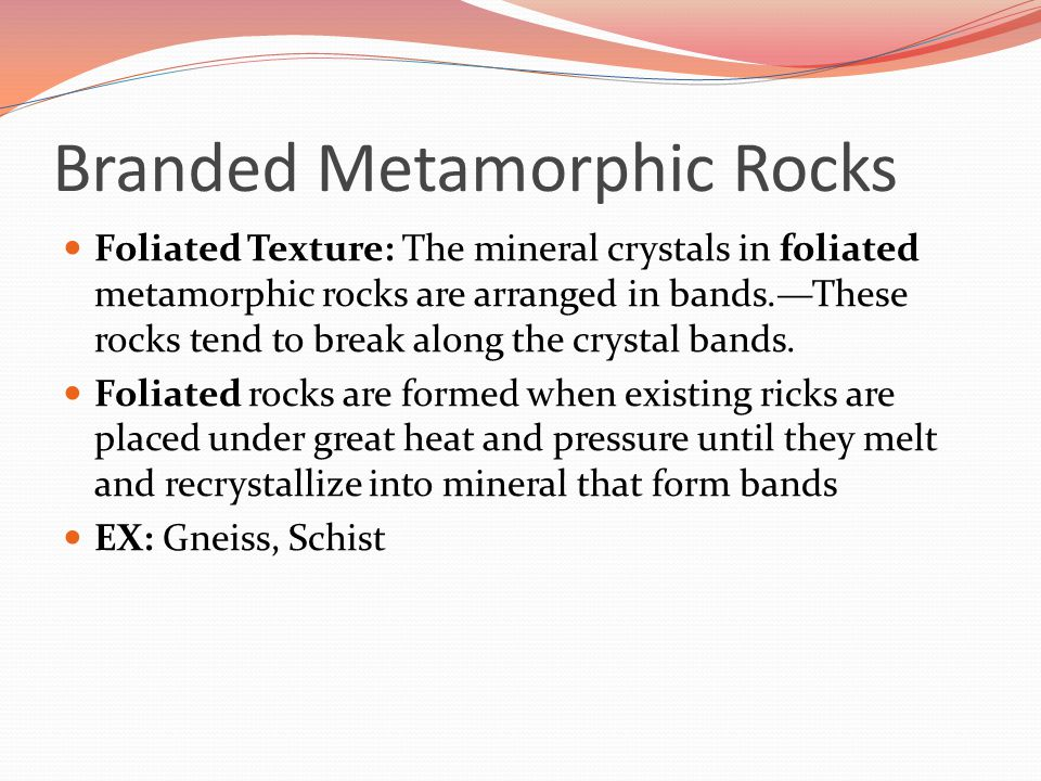 Section 3-7 How are metamorphic rocks classified? - ppt video ...