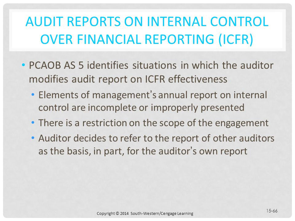 Chapter  Audit Reports On Financial Statements  Ppt Download