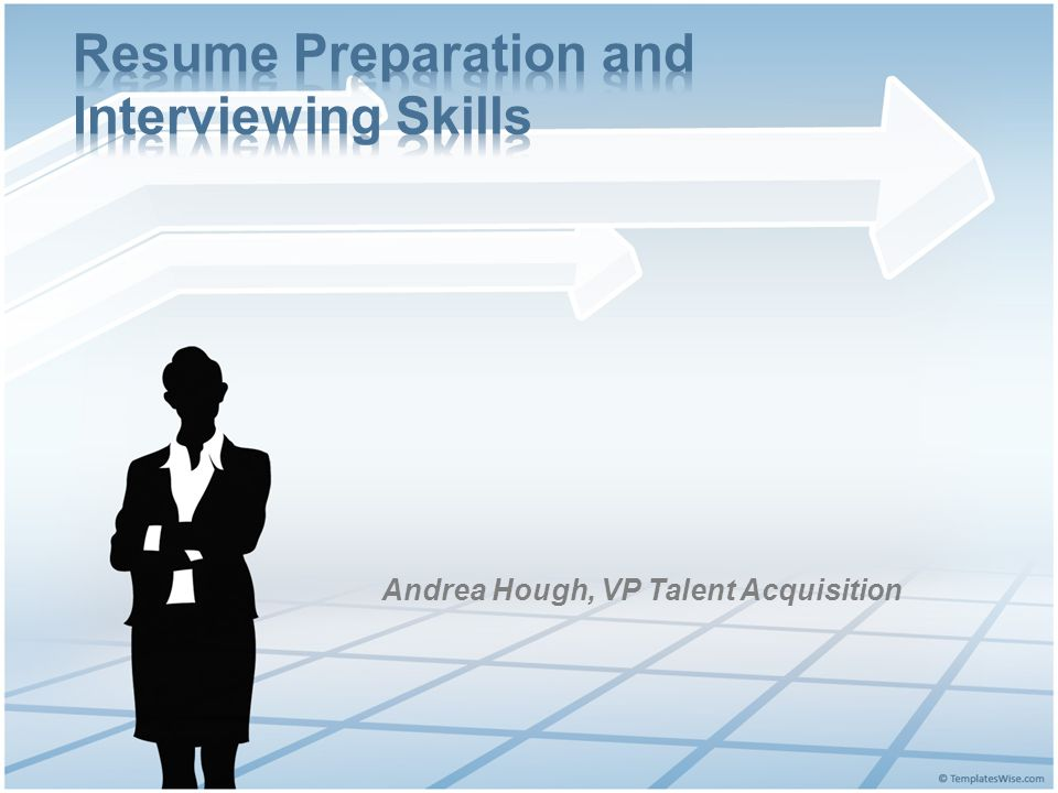 resume preparation and interviewing skills