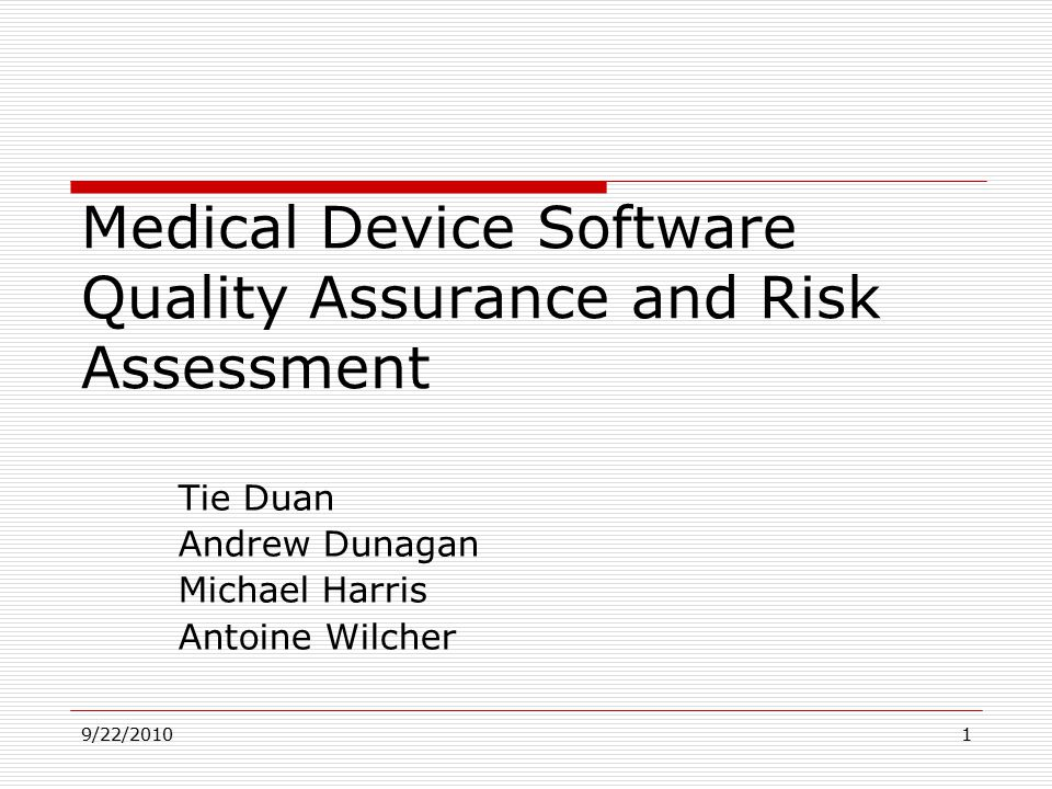 risk and quality assurance