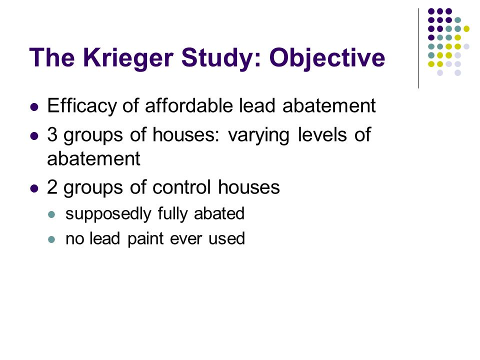 The Krieger Study: Objective