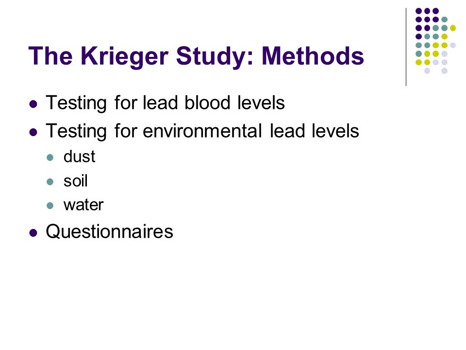 The Krieger Study: Methods