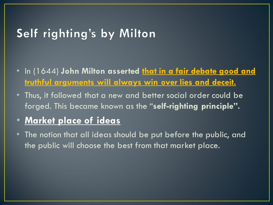 Self righting's by Milton